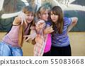 Teenage girls having a fun 55083668