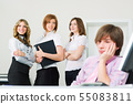 Young businessman team 55083811