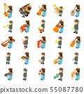 Music course icons set, isometric style 55087780
