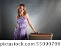 Young woman with a suitcase 55090706