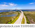 Aerial Cable-stayed bridge Sidney Lanier Bridge 55095683
