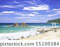 후쿠오카 현 이토시 마시 아름다운 후타미가 우라의 바다와 부부 바위 55100384