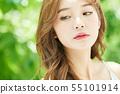 女性秀丽新绿色 55101914