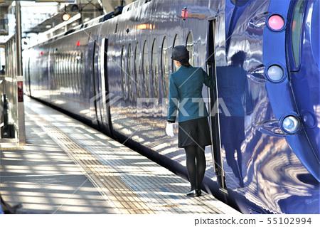 전철 라피트 여성 차장 55102994