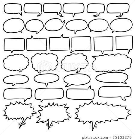 vector set of speech bubbles 55103879