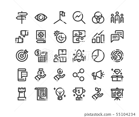 Business Icon Set. 55104234