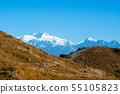 Kanchenjunga Range in Himalayas, landscape 55105823