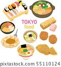 插图素材:插图素材:东京特产产品美食图标集 55110124