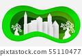 绿色 生态 城市 55110477