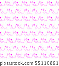 귀여운 강아지의 연속 무늬, 55110891