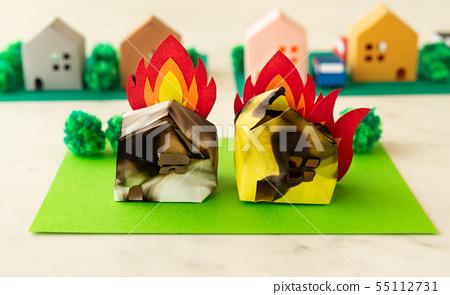 火火在房子旁邊起火 55112731
