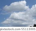 蓝天和夏天Inage海滩公园白色云彩 55113005