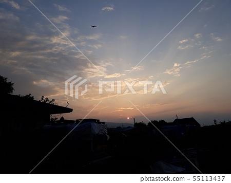 하늘과 구름과 새 55113437