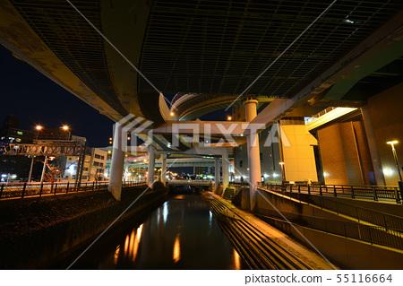 名古屋黑川交界處的夜景 55116664
