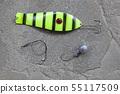 fishing bait natural stone background 55117509