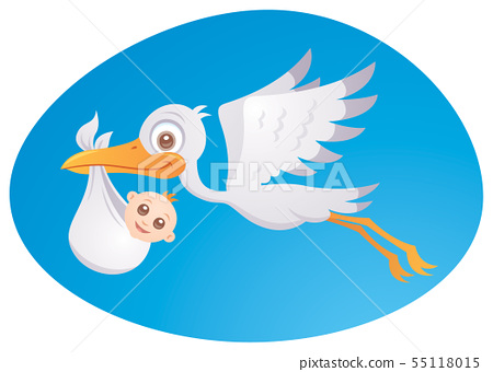 Baby Delivery Stork 55118015