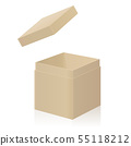 Cardboard Box With Extra Open Lid To Put On 55118212