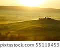 Countryside, green hills Tuscany, Italy 55119453