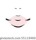 鼻子和嘴巴 55119460