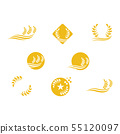 Agriculture wheat vector 55120097