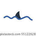 shark fin icon 55122628