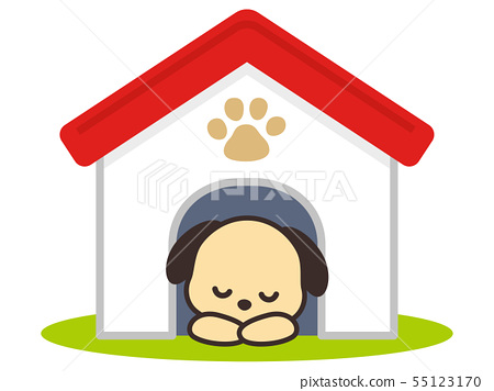 狗在狗窩裡睡覺 55123170