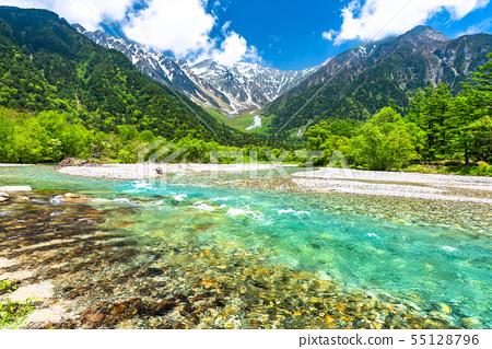 《Nagano Prefecture》Fresh green Kamikochi, Takezawa and Azusa River 55128796