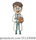 Young Cartoon Doctor 55129968
