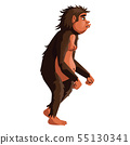 Ancient monkey, human ancestor illustration 55130341