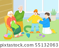 illustration of happy family having good time together 011 55132063