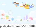 Harmony family, illustration of loving families 007 55132084