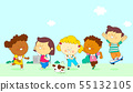 illustration of a group of happy children of different nationalities 005 55132105