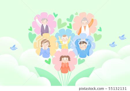Harmony family, illustration of loving families 006 55132131