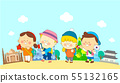 illustration of a group of happy children of different nationalities 014 55132165