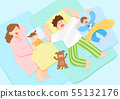 illustration of happy family having good time together 002 55132176