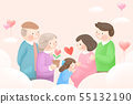 Harmony family, illustration of loving families 003 55132190
