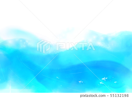 Summer background, abstract watercolor background vector 029 55132198