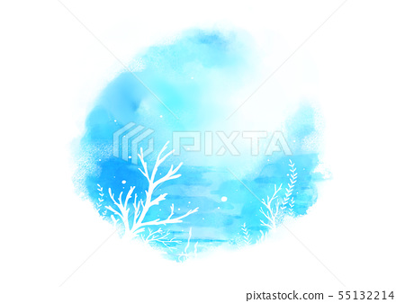 Summer background, abstract watercolor background vector 002 55132214