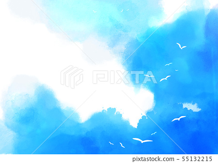 Summer background, abstract watercolor background vector 005 55132215