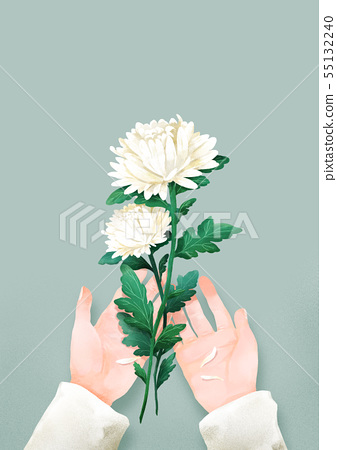 illustration of the Memorial Day of Korea 002 55132240