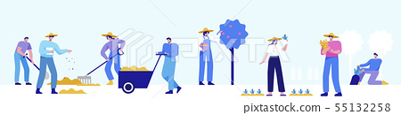 Isometric set of people, human movement concept isolated on white background. 060 55132258