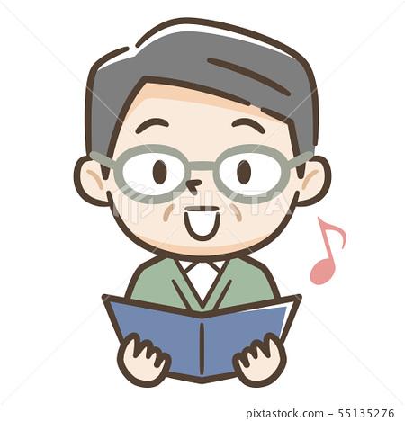 唱歌的高級男性 55135276