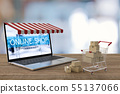 online shopping concept 55137066