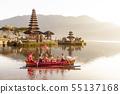 Beratan Lake in Bali Indonesia, June 6 2018 55137168