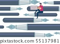 Informational Flyer Set Fountain Pens Cartoon.  55137981
