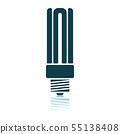 Energy Saving Light Bulb Icon 55138408