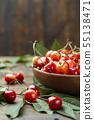 Juicy fresh tasty berries ripe cherries. 55138471