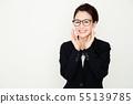 여성 비즈니스 비즈니스 우먼 젊은 여성 흰색 배경 커리어 우먼 55139785