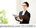 婦女企業女商人小姐白色後面職業婦女 55139851