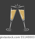 toasting with champagne celebration design 55140003